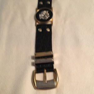 Versace Vintage Leather Belt.